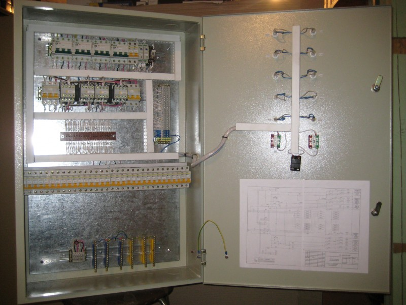 2 входа, 3-фазный АВР с питанием от двух трансформаторных подстанций (ТП). на контакторах.  2 выхода, каждый на 12...
